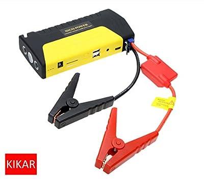 KIKAR Newest Portable Power Bank Car Jump Starter 16800mah/High Quality Multi-Function Battery Charger Booster Mobile Phone Laptop/Safety Hammer Non-slip Fashion design SOS Light