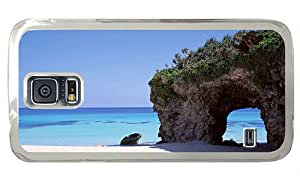 Hipster on sale Samsung Galaxy S5 Case Beach Hole rock PC Transparent for Samsung S5