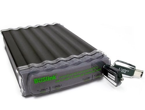 BUSlink 3TB CipherShield Penta Interface AES 256-bit Encrypted External Drive for (Ciphershield Penta Interface)