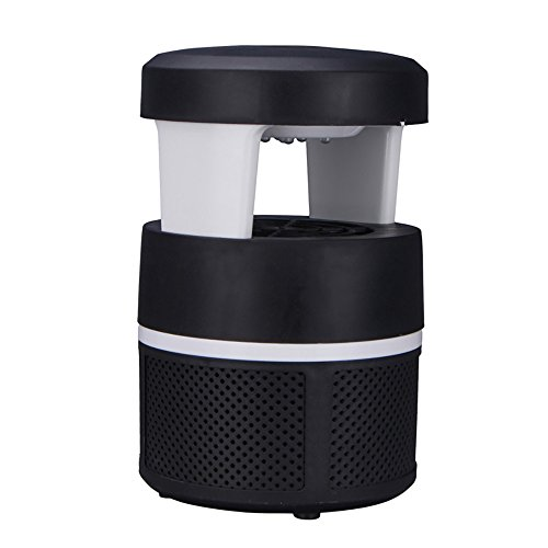 Price comparison product image Boofab 5W LED Electronic Mosquito Killer Bug Zapper Non-Chemical USB Powered Insect Catcher Smart Light Control LED Photocatalyst Non-Radiative Mosquito Trap with UV Light Suction Fan (A)