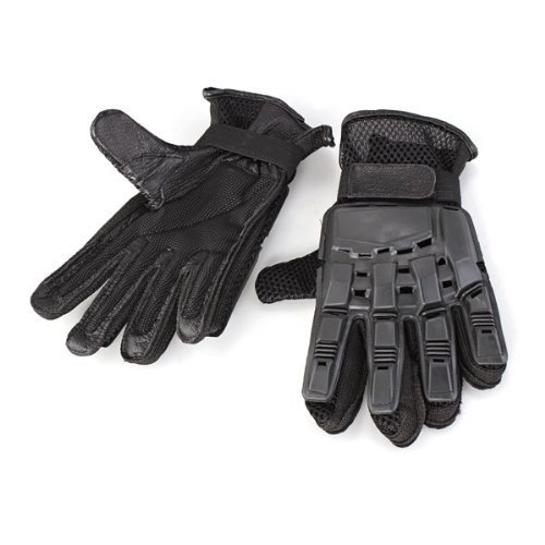 GQMART Pair Leather Gloves Protection Full Fingers Nylon Airsoft Boxing Exercise by GQMART