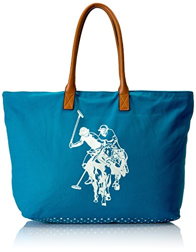 US POLO Association Uspa Beach Tote, Medium Blue
