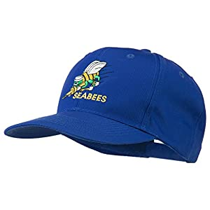 Navy Seabees Symbol Embroidered Cap - Royal