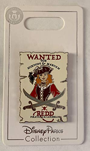 Disney Pin 130189 DLR - Pirates of the Caribbean - Wanted Poster - Redd Redhead Pin
