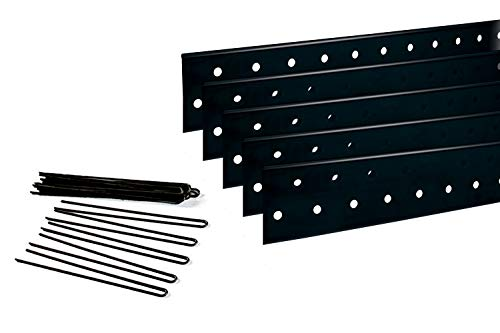Coyote Landscape Products 637082 PerfEdge Home Kit Lawn Edging, Black
