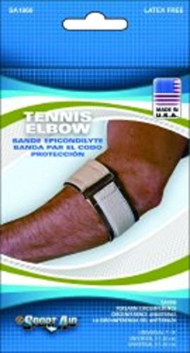 Tennis Elbow Sleeve Sport-Aid One Size Fits Most Hook and Loop Closure Tennis (Sleeve Tennis Elbow Sportaid)