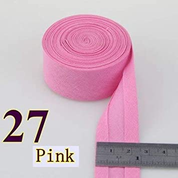 Color: 30 1 Jammas 25mm Extra Width Ironed Single fold Cotton bias Tape//bias Binding for Garment Craft Sewing DIY -
