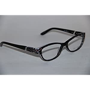 Helium Paris Eyeglasses 4188 Black Leopard Print Cat Eye Optical Frame Large