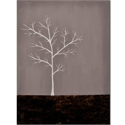 Grey on White Series by Nicole Dietz, 18×24-Inch Canvas Wall Art