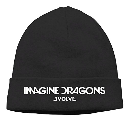Dragon Knit Beanie (Imagons Imagine Dragons - Evolve Logo Cable Knit Skull Caps Thick Soft & Warm Winter Beanie Hats For Women & Men Cotton Hat Unisex Cap)