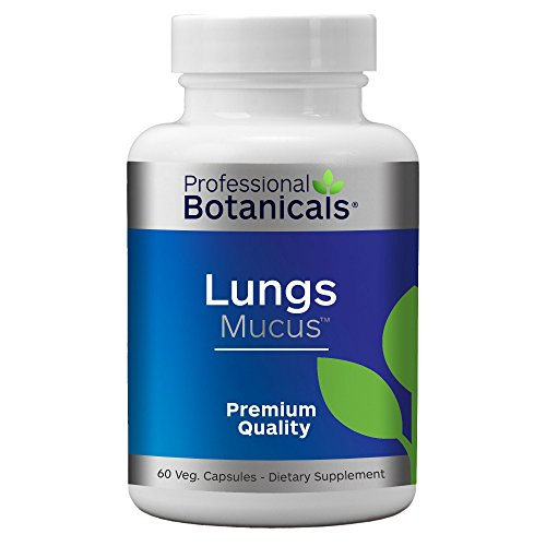 Professional Botanicals Lungs Mucus - Vegan Lung Cleanse Herbal Lung Health Supplement - 60 Vegetarian Capsules (Best Remedy For Asthma)
