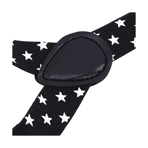 Sevenfly Unisex Suspenders Y Style Very Strong Clips Adjustable Fits All Heavy Duty Braces(black)