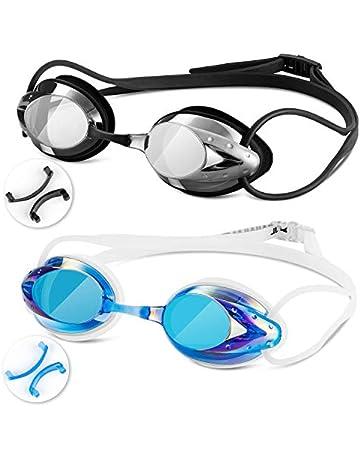 9b3c1cd67ea8 Swim Goggles - Swimming Goggles with Nose Clip + Ear Plugs