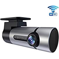 HD Camera for Car AntDisk Full HD 1080P with Super Night Vision Car DVR Dashboard Camera Recorder G-Sensor Built-in WiFi&GPS for Android and IOS System