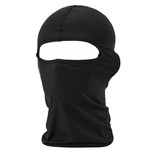 Eavacic Balaclava Tactical Face Mask Hood Neck Gaiter 1 Pack (Black)