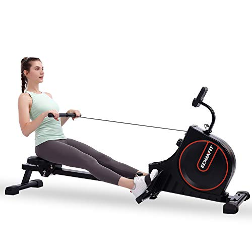 ECHANFIT Rowing Machine Magnetic Rower for Home Use Foldable 16 Quiet Resistance Levels Cardio Workout for Fitness with…