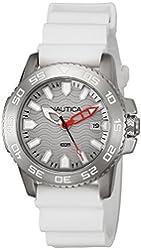 Nautica Men's NAD12528G NSR 20 Analog Display Quartz White Watch