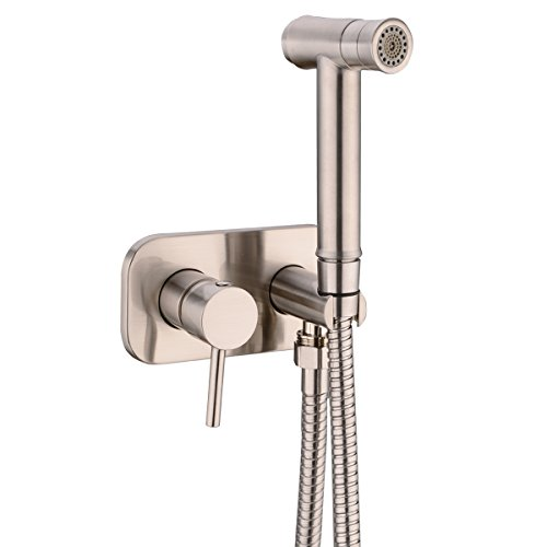 HANEBATH Toilet Concealed Hot and Cold Bidet Spray Set,Brushed Nickel by HANEBATH