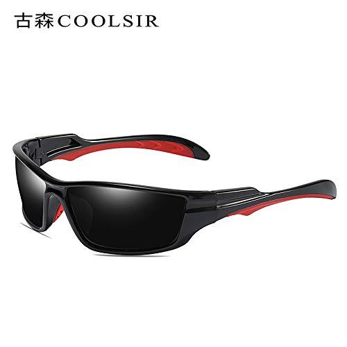 Sol de nbsp;Gafas nbsp;Sol Hombre frame nbsp;conducción nbsp;polarizadas 1 nbsp;conducción nbsp;Gafas Gafas roja nbsp; nbsp;Espejo de sunglasses Gafas nbsp;UV de Black Deportivas de de Caja Mjia tzwvqTYn
