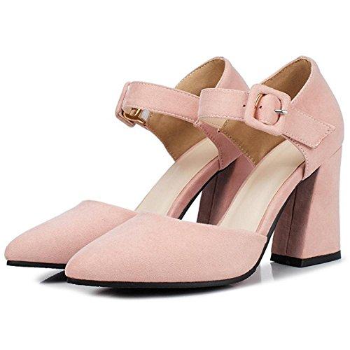 Coolcept Mujer Cerrado Bombas Zapatos Pink-2