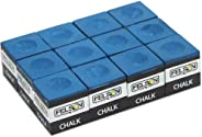 Blackcell Box of 12 Blue Cubes of Pool Cue Chalk By Felson Billiard Supplies