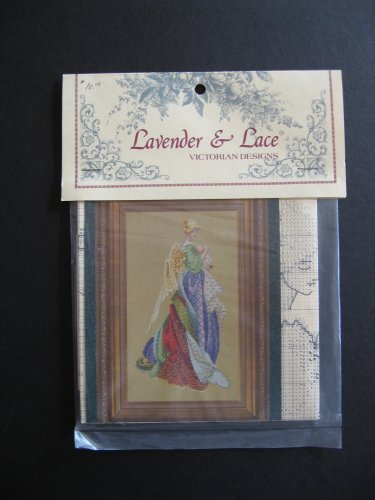 Lavender and Lace In The Arms of an Angel Cross Stitch Pattern Victorian Designs (Angel Cross Stitch Pattern)