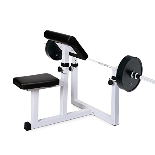 Sportmad Preacher Curl Bench Weight Bench Press Rack Adjustable Seated  Dumbbell Bench Roman Chair Hyperextension Bench