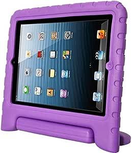 Kids Child Shock Proof Thick EVA Foam Handle Stand Case Cover for Apple ipad mini Purple color