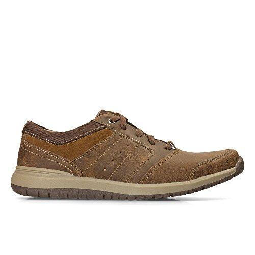 Clarks Ryley Street Review Chaussures en cuir Brun clair/Combi
