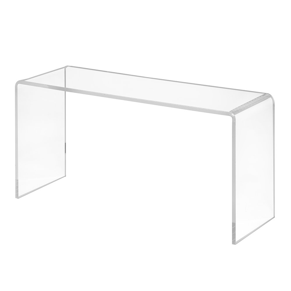 Dekobrücke aus Acrylglas in 200x100x70mm - Zeigis® / Schuhständer/Schuhaufsteller / U-Ständer/Acrylständer / Warenpräsentation/Dekoständer / Dekoaufsteller HB Präsentationssysteme oHG