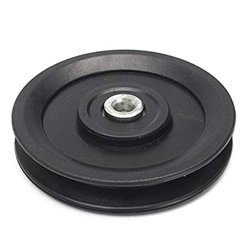 LAQI 115mm Black Wheel 4.5 Nylon Bearing Pulley Wheel Cable Gym Fitness Equipment Part