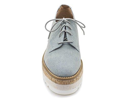 Jane and the Shoe Women's Jasmin Platform Oxford Light Blue Denim best seller online eVf2NV9o