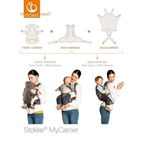 200005b149a Amazon.com   Stokke MyCarrier Cool Baby Carrier - Cream - One Size   Child  Carrier Front Packs   Baby