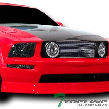 Topline Autopart Smoke Clear Headlights Headlamps W/Front Bumper Corner Am Jy 05-09 Ford Mustang