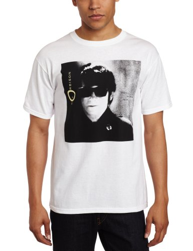 FEA Men's Roy Orbison Sunglasses Photo T-Shirt, White, - Roy Sunglasses