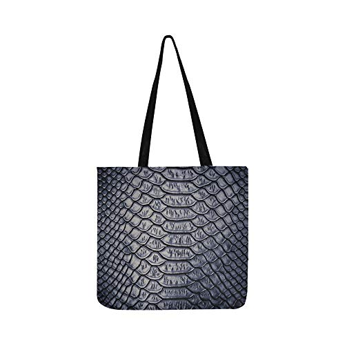 Close Snake Skin Texture Use Canvas Tote Handbag Shoulder Bag Crossbody Bags Purses For Men And Women Shopping Tote