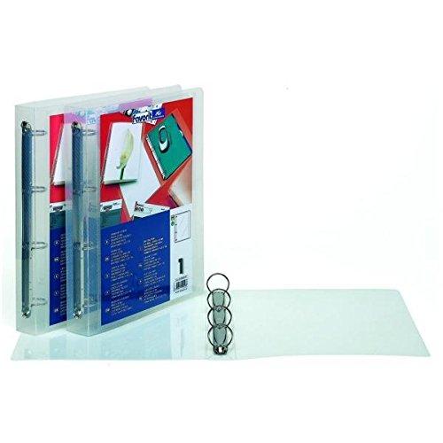 Favorit 100460714 Raccoglitore Hawai Personalizzabile 4 Anelli Tondi Diametro 30mm Formato Interno 22X30 cm, Trasparente Hamelin Brands