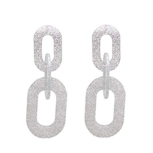IUTING Shiny Side New Women's Fashion Brand Jewelry Elegant Acrylic Link Stud Earrings Geometric Statement Earrings