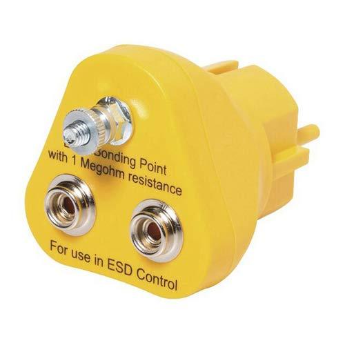 Safeguard EP1240-16 ESD Erdungsstecker Gelb 2mm x 10mm Druckknopf