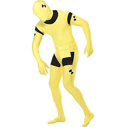 Crash Dummy Second Skin Suit Adult Costume - X-Large -