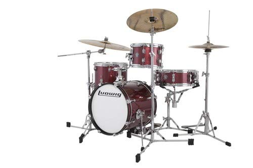 Ludwig Breakbeats By Questlove 4-piece Shell Pack with Snare Drum - Wine Red ()