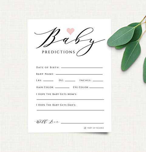 picture regarding Baby Shower Card Printable identify : Kid Shower Recreation, Kid Shower Prediction Card