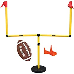 Franklin Sports Youth Football Goal-Post Set — Kids' Football Goal Post with Mini Football — Fun Football Goal for All Ages — Easy Assembly — Adjustable Height — Weighted Base