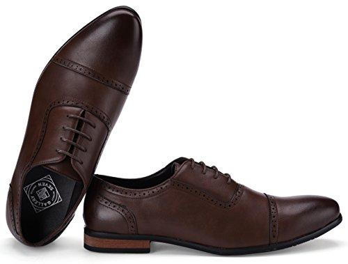 Captoe Design Oxford Shoe Chocolate Brown US-8.5D(M) | UK-41-42 | EU-8 by Gallery Seven (Image #2)