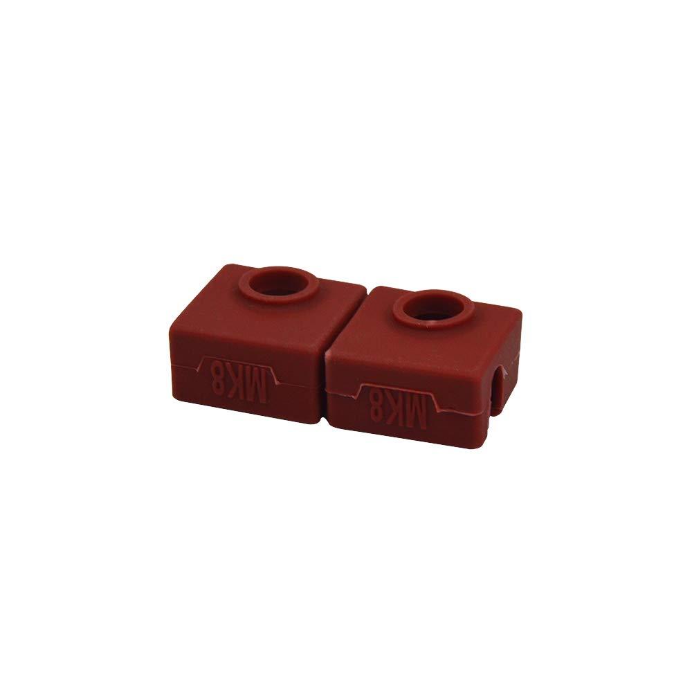 SOOWAY Coque de protection en silicone pour imprimante 3D MK7//MK8//MK9 compatible avec Creality CR-10,10 S 5 S5 S4 ANET A8 Ender 3 5 x Blau Abdeckung
