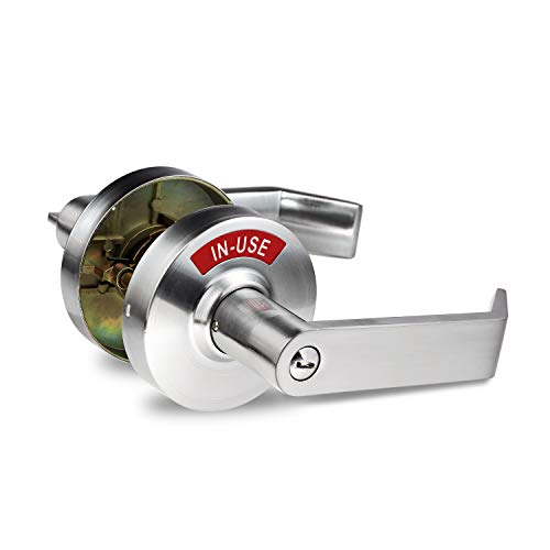(Indicator Privacy Lock & Lever Commercial Grade in Satin Chrome (26D))
