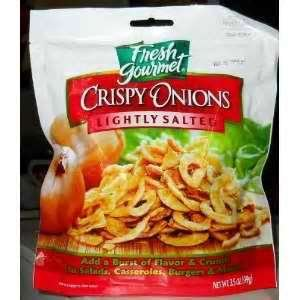 Fresh Gourmet Crsipy Onions Lightly Salted (Pack of 3)