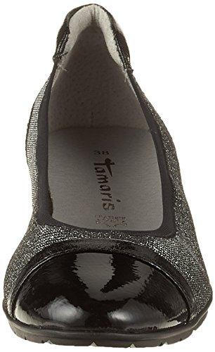 black Comb Tamaris Femme 22109 Ballerines Noir nWqIBqC
