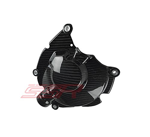 - 2015 2016 2017 Yamaha R1 R1M R1S (100%) Twill Carbon Fiber Large Right Hand Side Engine Clutch Case Cover Guard Protector