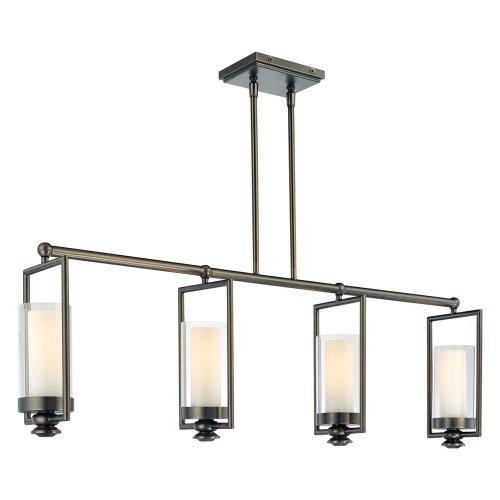 Minka Lavery 4364-281 Kitchen Island Chandelier Lighting, Havard Ct. Cylinder Pendant, 4 Light, 240 Watts, Bronze